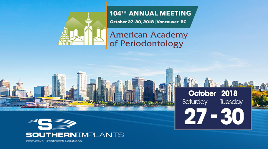 October 27-30, 2018 – AAP – American Academy of Periodontology
