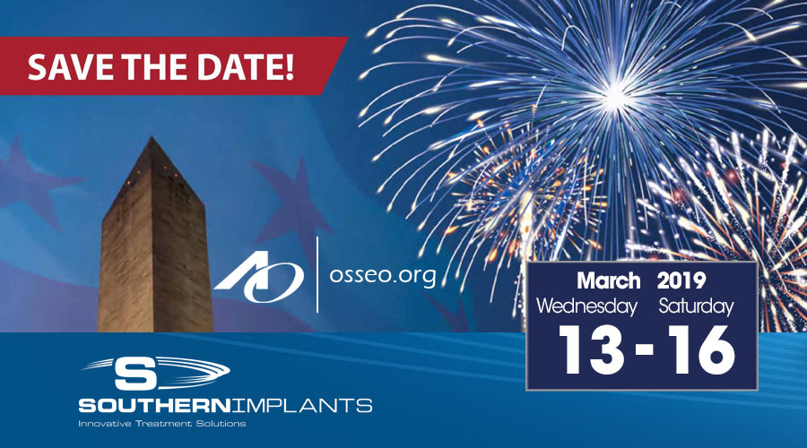 March 13-16, 2019 – AO – Academy of Osseointegration