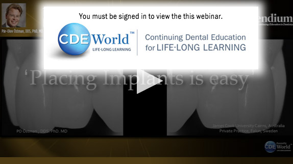 Webinar: Treatment Solutions Simplified with a New and Innovative Internal Hex Implant
